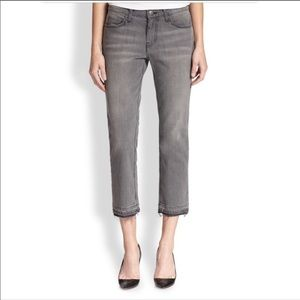 Current/Elliot gray cropped straight leg jeans